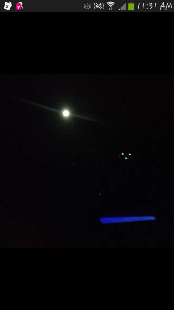 Full image of cell phone screen capture of the UFO posted on Facebook. Click to enlarge. (Credit: MUFON)