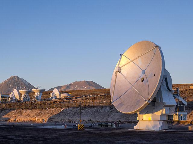 The ALMA. (Credit: ESO/C. Pontoni)