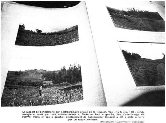 Exact location of the field of the 1975 Séverin case from the Gendarmerie files. (image credit: J.-C. Bourret)