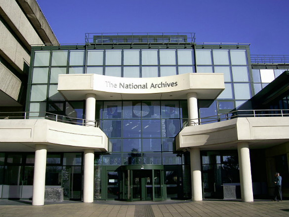 Photograph of the The National Archives, taken by Nick Cooper 3 February, 2007. (Credit: Nick Cooper/Wikimedia Commons)