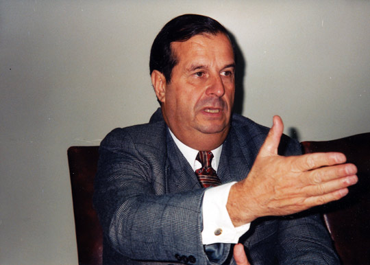 Chilean Air Force retired general Ricardo Bermúdez, director of CEFAA. (Image credit: Antonio Huneeus)