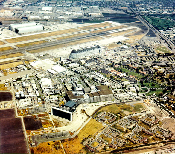 Aerial view of the NASA Ames Research Center, Mountain View, California. Date: 1 January 1982 (Image Credit: NASA)