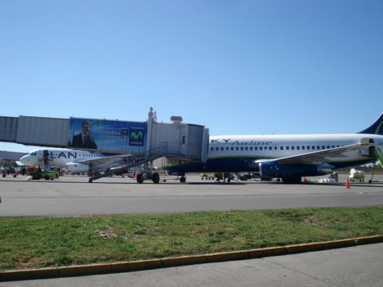 """""""El Tepual"""" Airport of Puerto Montt, Chile. (image credit: Gabriel 03/Wikimedia Commons)"""