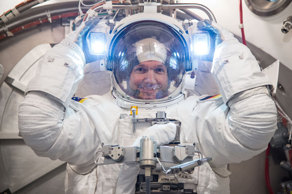 German ESA astronaut Alexander Gerst, who is currently aboard the ISS. (Credit: NASA)