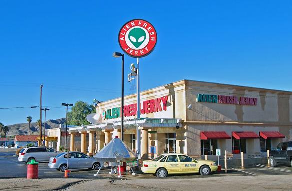 The Alien Fresh Jerky store in Baker, California. (Credit: Jim Nieland)