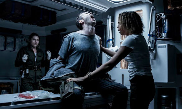 Contamination of space colonists in Alien Covenant caused slight discomfort for those infected. (Credit: 20th Century Fox)