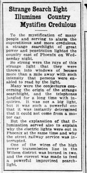 Arizona Republican Nov. 15, 1918.