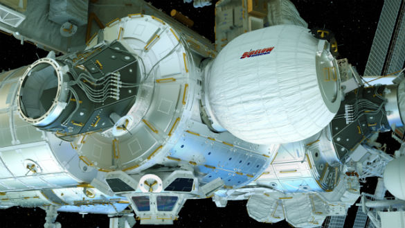 The Bigelow Aerospace BEAM module, currently on the ISS. (Credit: NASA)