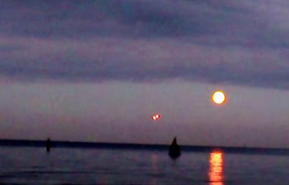 Still image from the UFO video in question. (Credit: YouTube/Mariusz Bilski)