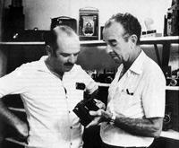 Almiro Baruna (right) with a friend.