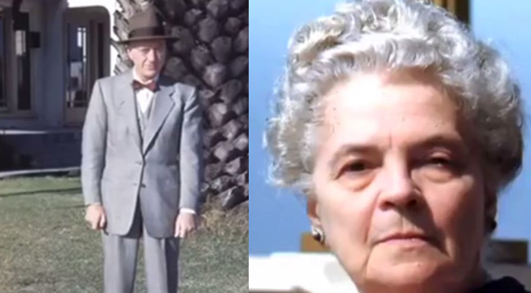 Berard and Hilda Blair Ray. (The video spells his name Berard. Bragalia spells it Bernerd). This is the couple who are believed to have owned the slides in question. The slides were found in their house after they had passed away. (Credit: Tercermilenio.tv)