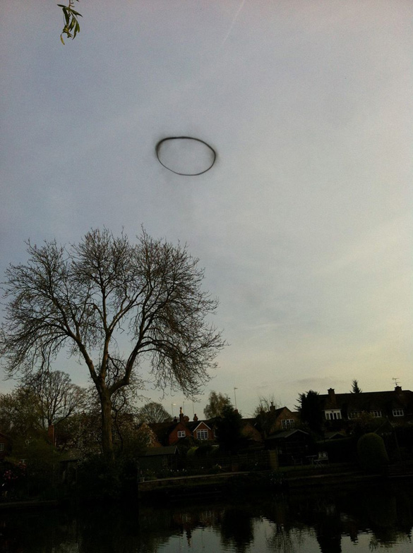 The Black Ring of Lemington UFO/smoke ring. (Credit: Georgina Heap/Newsteam)