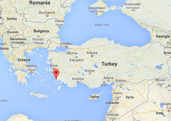 Map of location of Bodrum city. (Credit: Google Maps)