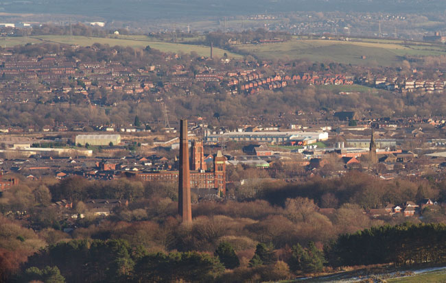 View of Bolton from Winter Hill. (Credit: Francis Franklin/Wikimedia Commons)
