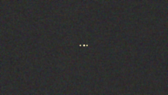 UFO photo captured in Brisbane, the capital of Queensland, Australia.This image was reportedly taken on March 5, 2014 at 2:34 am. (Credit: Brisbane UFO Sightings Facebook page)