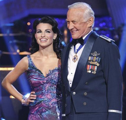 Ahly Costa and buzz Aldrin during his recent appearance on Dancing with the Stars (Credit: ABC)