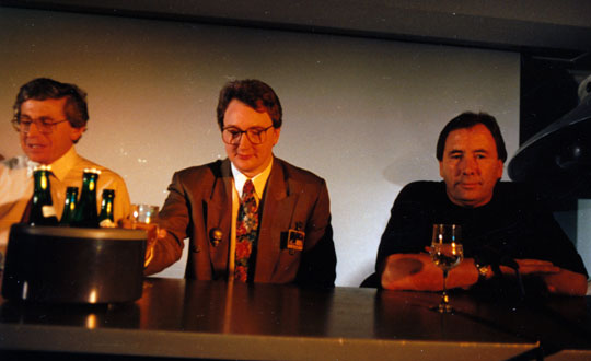From left: Collin Andrews, Phillip Mantle, Reg Presley (Andrews and Mantle have also seen the first autopsy film).