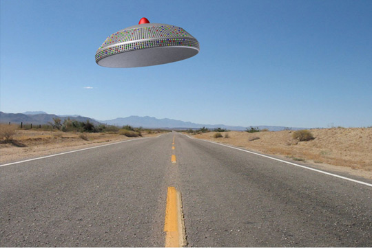 Illistration of the object seen in California (Credit: Michael Schratt).