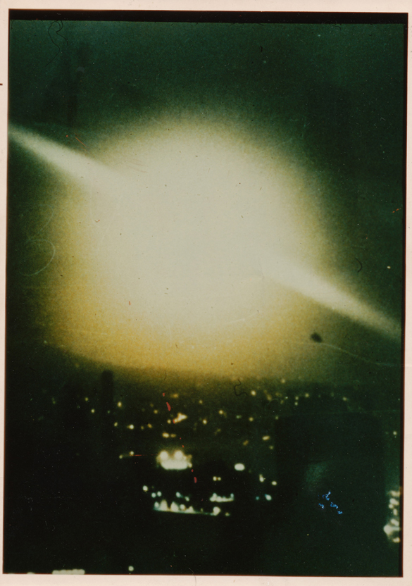 Photograph of the phenomenon over the Canary Islands on June 22, 1976. (Credit: Spanish Air Force/Antonio Huneeus)