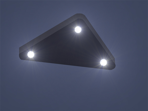 The Switzerland witness in Case 78921 submitted this illustration of the triangle UFO seen in 2011. (Credit: MUFON)