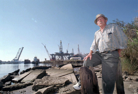 Charles Hickson at the site