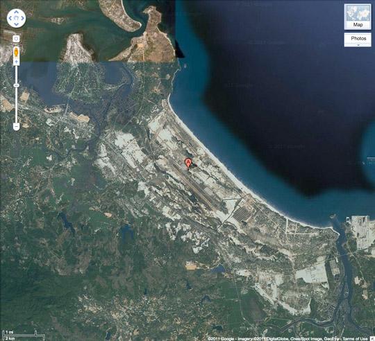 Google map of Chu Lai.