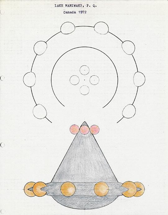 Drawing of object. Credit: Wendelle Stevens
