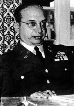 Col. Corso at his desk in the Pentagon in the 60's.
