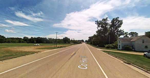 The object eventually moved quickly out of the area before the group could retrieve binoculars for a better look. Pictured: Currie, MN. (Credit: Google Maps)