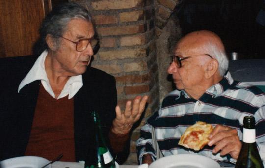 Leslie with Colonel Corso in Rome. (image credit: Mauazio Baiata)
