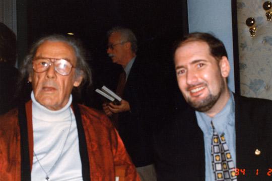 Desmond Leslie and Michael Meseman in Italy, 1997. (image credit: Mauazio Baiata)