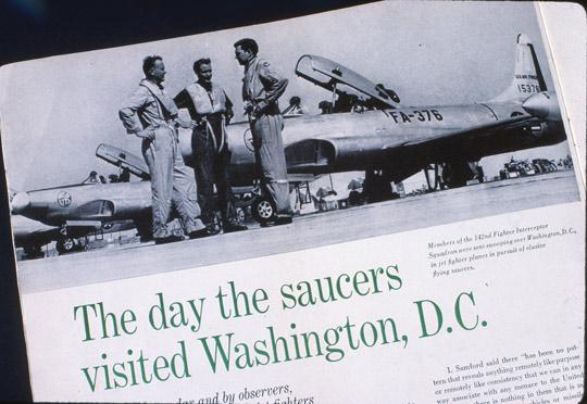 Life amagzine article on the UFOs over Washington in 1952. (image credit: Life magzine)
