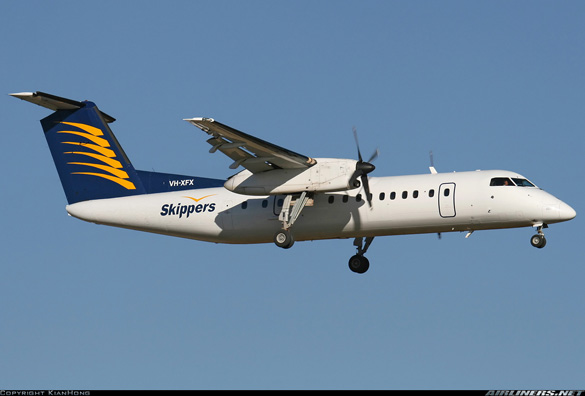 The De Havilland Canada DHC-8-314 Dash 8 involved with the near miss. (Credit: Kian Hong/airliners.net)