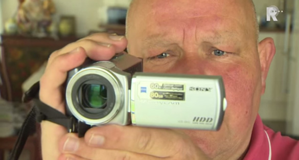 UFO witness Dick Smits. (Credit: Rijnmond TV)