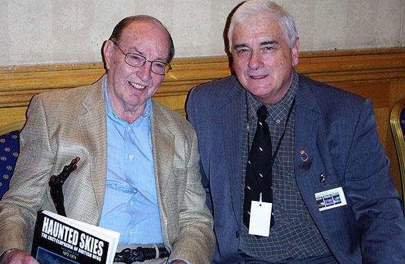 John Hanson (right) with Astronaut Edgar Mitchell. (Credit: John Hanson)