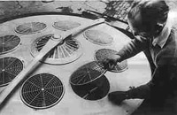 German engineer Andreas Epp at work on thw AVRO in the 1960's.