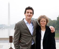 James fox with Leslie Kean in D.C. (image credit: James Fox)
