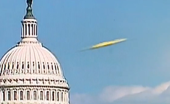 Closeup of object in video.