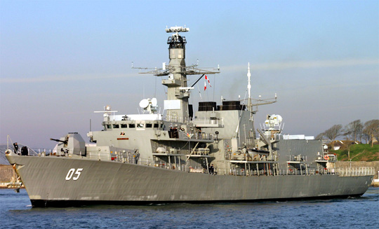 The Chilean destroyer Lord Cochran.
