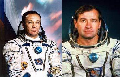 Cosmonauts Gennadiy Manakov and Gennadiy Strekalov.