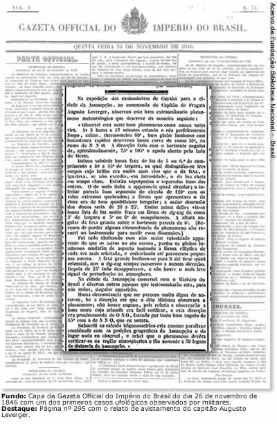 Leverger's report in the Official Gazette of the Empire of Brazil (image credit: Edison Boaventura/GUG)