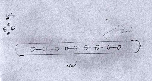 Witness sketch of UFO. (Credit: MUFON)