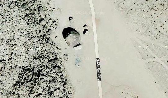 Giant Rock satelite image. (image credit: Google Maps)