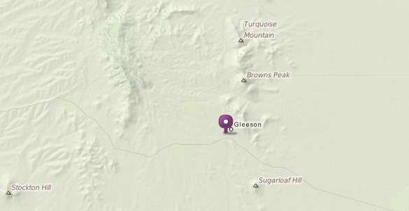 Map of Gleeson and its proximity to Browns Peak. (Credit: Mapquest)