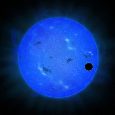 Artist's impression of Gliese 1214 b. (Credit: NAOJ)