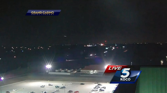 A screen capture from the KOCO UFO Video. (Credit: KOCO 5 News)