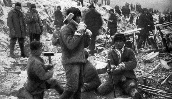 A Gulag labor camp. (Credit: www.gulag.eu)