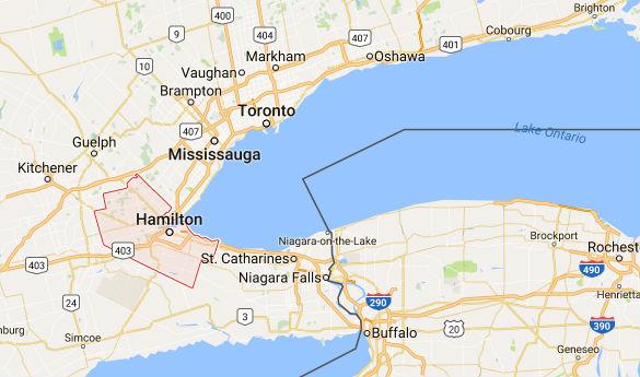 Map of Hamilton. (Credit: MUFON)