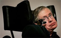Stephen Hawking on NASA's Zero Gravity simulation jet (Credit: NASA)