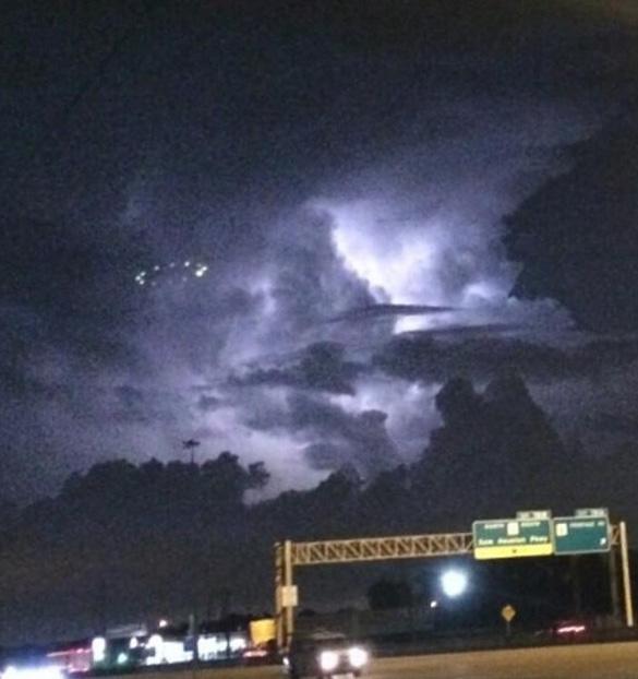 First UFO picture posted by DJ Nayyz. (Credit: DJ Nayyz)